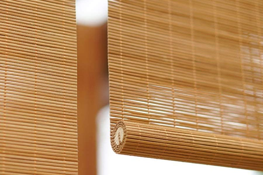 rolled bamboo blinds